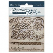 Stamperia Decorative Chips - Alphabet
