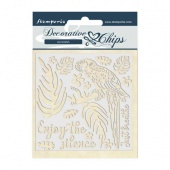 Stamperia Decorative Chips - Amazonia - Parrot