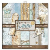 Stamperia  Double Sided 12in x 12in Paper Pad - Atelier