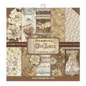 Stamperia Double Sided 12in x 12in Paper Pad - Old Lace