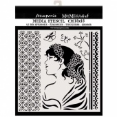 Stamperia Stencil - Hortensia - Lady Side