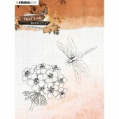 StudioLight Just Lou - Butterfly Collection Clear Stamp Set - JL15
