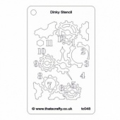 That's Crafty! Dinky Stencil - Clock Background - TC048