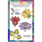 That's Crafty! Clear Stamp Set - Fanciful Flowers Collection - Set 2
