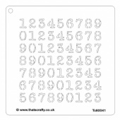 That's Crafty! 6ins x 6ins Stencil - Numbers - TC60041