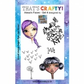 That's Crafty! Clear Stamp Set - Alexa's Faces - Set 4