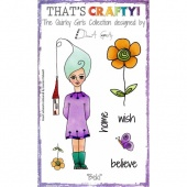 That's Crafty! Clear Stamp Set - The Quirky Girls Collection - Beki