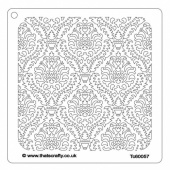 That's Crafty! 6ins x 6ins Stencil - Damask - TC60057