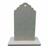 That's Crafty! Surfaces MDF Uprights - Scalloped Tag - Pack of 3