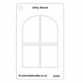 That's Crafty! Dinky Stencil - Arched Window - TC022