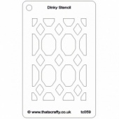 That's Crafty! Dinky Stencil - Jewelled - TC059