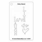 That's Crafty! Dinky Stencil - Live, Laugh, Love - TC034