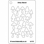 That's Crafty! Dinky Stencil - Mushrooms - TC115
