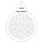 That's Crafty! Round Dinky Stencil - Puzzle - TC139