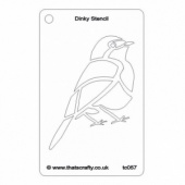 That's Crafty! Dinky Stencil - Robin - TC057
