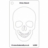 That's Crafty! Dinky Stencil - Skull - TC099