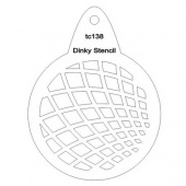 That's Crafty! Round Dinky Stencil - Squared - TC138