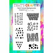 That's Crafty! Clear Stamp Set - Hand Carved Backgrounds