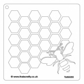 That's Crafty! 6ins x 6ins Stencil - Honey Bee - TC60055