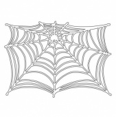 That's Crafty! 6ins x 4ins Mask - Spiders Web