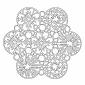 That's Crafty! 6ins x 6ins Mask - Snowflakes