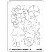 That's Crafty! Mini Stencil - Cogs Background - MS019