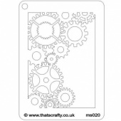 That's Crafty! Mini Stencil - Cogs Corner - MS020