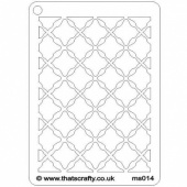That's Crafty! Mini Stencil - Fancy Lattice - MS014
