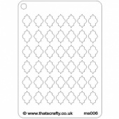 That's Crafty! Mini Stencil - Quatrefoil - MS006