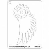 That's Crafty! Mini Stencil - Winged Gear - MS015