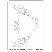 That's Crafty! Mini Stencil - Winged Heart - MS016