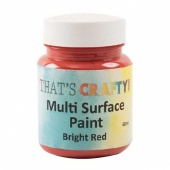That's Crafty! Multi Surface Paint - Bright Red