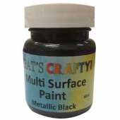 That's Crafty! Multi Surface Paint - Metallic Black