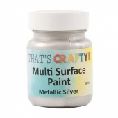 That's Crafty! Multi Surface Paint - Metallic Silver