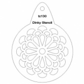 That's Crafty! Round Dinky Stencil - Stylised Chrysanthemum - TC130