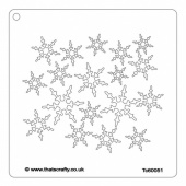 That's Crafty! 6ins x 6ins Stencil - Snowflakes - TC60051