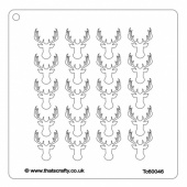 That's Crafty! 6ins x 6ins Stencil - Stags Head Background - TC60046
