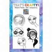 That's Crafty! Clear Stamp Set - Alexa's Faces - Set 1