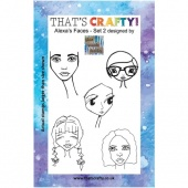 That's Crafty! Clear Stamp Set - Alexa's Faces - Set 2