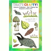 That's Crafty! Clear Stamp Set - Autumn Collection - Set 3