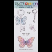 That's Crafty! Clear DL Stamp Set - Butterfly Keys