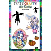 That's Crafty! Clear Stamp Set - Little Darklings Set 1
