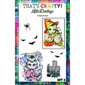 That's Crafty! Clear Stamp Set - Little Darklings Set 2