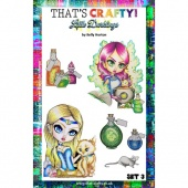 That's Crafty! Clear Stamp Set - Little Darklings Set 3