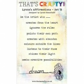 That's Crafty! Clear Stamp Set - Lynne's Affirmations - Set 12