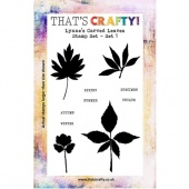 That's Crafty! Clear Stamp Set - Lynne's Carved Leaves - Set 1