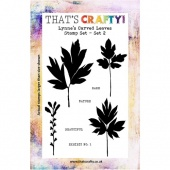 That's Crafty! Clear Stamp Set - Lynne's Carved Leaves - Set 2