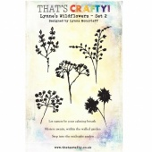 That's Crafty! Clear Stamp Set - Lynne's Wildflowers - Set 2 - A5