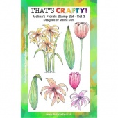 That's Crafty! Clear Stamp Set - Melina's Florals Set 3
