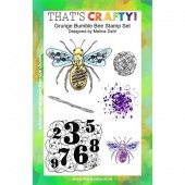 That's Crafty! Clear Stamp Set - Grunge Bumble Bee